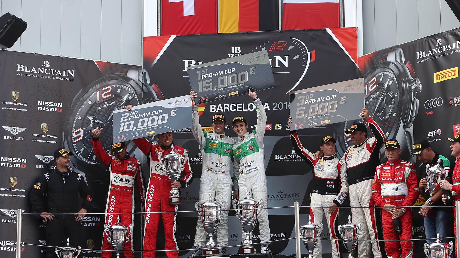 Klassensieg für Norbert Siedler beim Blancpain Sprint Cup in Barcelona