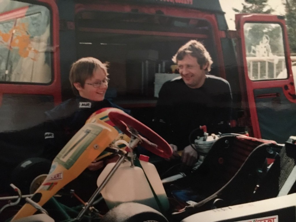 Norbert mit Vater Josef (1995)